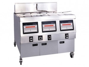 China Computer Fryer/Electric Heater Open Fryer With Oil Filtration System Economical Industrial Air Open Fry 3-tank,6-basket